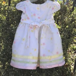 George Embroidered Floral Ribbon Lined Party Dress
